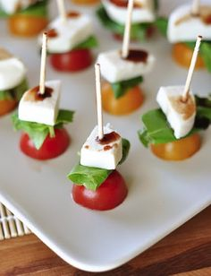 A High School Graduation Party-caprese skewers with marinated mozzarella balls from Costco