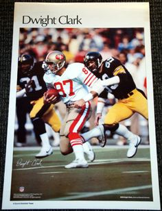 DWIGHT CLARK San Francisco 49ers 1981 Marketcom Sports Illustrated NFL SI Poster - Sold for $49.99 Oct 2013
