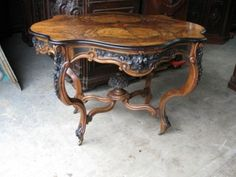 Antique-Burled-Walnut-Table-Victorian-7267