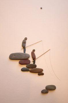 Kiesel Kunst der NS von Sharon Nowlan von PebbleArt auf Etsy