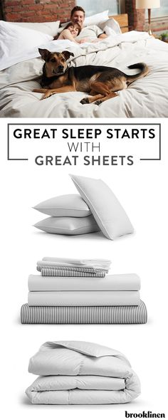 Make your whole bed feel like the cool side of the pillow with Brooklinen's signature long-staple Egyptian cotton sheets. In addition to luxuriously comfortable sheets, Brooklinen is also home to pillows, comforters and more—everything you need for the perfect night's sleep.