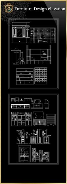 ★【Furniture Design elevation】Download Luxury Architectural Design CAD Drawings--Over 20000+ High quality CAD Blocks and Drawings Download!