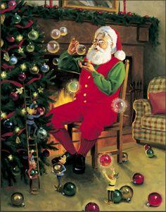 Tom Browning Bubble Magic Santa Cards