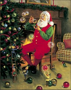 Tom Browning Bubble Magic Santa Cards