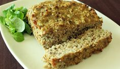 Quinoa Meatloaf (Not pretty to look at, but tasted great! We want to try hamburgers and meatballs with this recipe. -LH)
