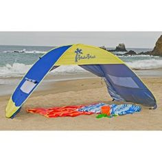 Shade Shack Instant Pop Up Family Beach Tent and Sun Shelter $49.95 on amazon. MUST GET THIS!!