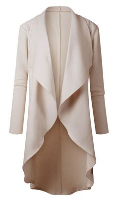 winter outfits:High Low Drape Coat