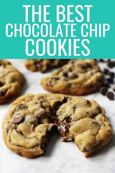The BEST Chocolate Chip Cookie Recipe. How to make the best chocolate chip cookies in the wor. The BEST Chocolate Chip Cookie Recipe. How to make the best chocolate chip cookies in the world. These are hands down the most perfect chocolate chip cookies! Homemade Chocolate Chips, Perfect Chocolate Chip Cookies, Chocolate Cookie Recipes, Baking Chocolate, Chocolate Biscuits, Worlds Best Chocolate Chip Cookies Recipe, Chocolate Chocolate, Microwave Chocolate Chip Cookie, Crispy Chocolate Chip Cookies