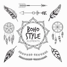 Art, boho style, details, elements, black and white, illustrations, inspiration