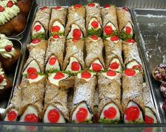 The loved Sicilian Cannoli xxxx fresh sheep's milk ricotta and those crunchy shells...how divine.