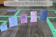 A great way to introduce reading a map to kids! Gets them right into the map.