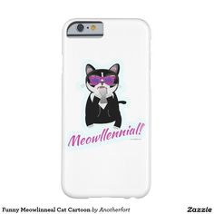 Funny Meowlinneal Cat Cartoon Barely There iPhone 6 Case