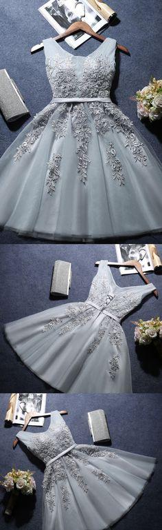 A-line Homecoming Dress,V-neck Homecoming Dress,Short Mini Tulle Short Prom Dress,Homecoming Dresses