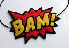 POW Comic Book Headband Roller Derby Super Hero Team Colors. $25.00, via Etsy.