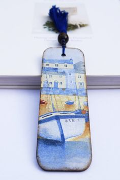 Wooden Bookmark Boats motif Bookmark Decoupage by Leafbirdcrafts Handmade Wooden, Book Lovers, Boats, Decoupage, Birthday Gifts, Christmas Gifts, Diy Projects, Etsy, Cards