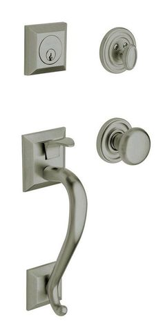 View the Baldwin 85320.ENTR Madison Single Cylinder Handleset with Classic Interior Knob at Handlesets.com.