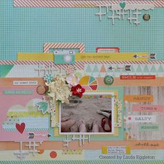 Lou's World: Another layout using Simple Stories Summer Vibes for All About Scrapbooks.