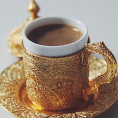 Exquisite Arabic Coffee Cup..... if this cup doesn't make you feel fancy, what will? You tell me and we'll both know!