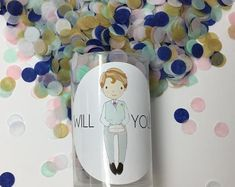Bridesmaid Proposal Will you be my bridesmaid. Push Pop Confetti, Confetti Poppers, Rose Gold Foil, Will You Be My Bridesmaid, Bridesmaid Proposal, Your Turn, This Or That Questions, Etsy