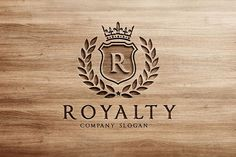Royalty Logo by Super Pig Shop on @creativemarket