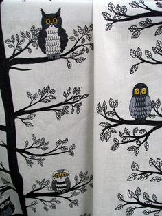 Your place to buy and sell all things handmade Decorating Ideas, Decor Ideas, Gift Ideas, Nursery Curtains, Woodland Nursery, Curtain Fabric, Scandinavian Design, Owls, Yards