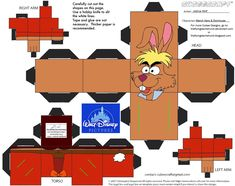 PaperToy_Disney - March Hare And Dormouse