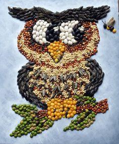 Resultado de imagen para art with seeds and beans Autumn Activities For Kids, Art Activities, Seed Craft, Bible School Crafts, Classroom Art Projects, Arte Popular, Hand Art, Nature Crafts, Art Plastique
