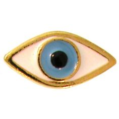 """5/8 X 1 1/8"""" Mystical Lucky/Evil Eye Ring, Adjustable, Quality Made in USA!, in Gold"""