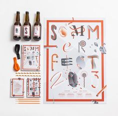 Grafill Sommerfest 2013 by Daniel Brokstad, via Behance