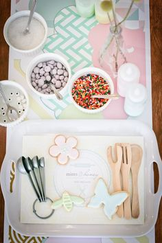 Cookie decorating party from Mints and Honey | 100 Layer Cakelet