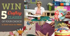 """If you enter one #giveaway, it should be this one! Create a wishlist of 5 or more quilting Craftsy classes you want to try by visiting Craftsy's site and clicking the """"wishlist"""" button on any Craftsy class page. You'll be automatically entered to win your selections for FREE! (Winner will be contacted by September 29th. """"Wishlist"""" button is located underneath the """"Add to Cart"""" button on the individual class page.)"""