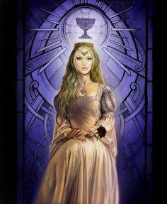 Les Dames de Brocéliande - GUENIEVRE Divine Goddess, Beautiful Goddess, Fantasy Women, Fantasy Art, Celtic Clothing, Dark Princess, Lady Godiva, Name Art, Adam And Eve