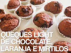 Receitas de Dieta: Queques Light de Chocolate, Laranja e Mirtilos
