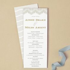 Printable Wedding Program Template  Instant Download  Mint Type