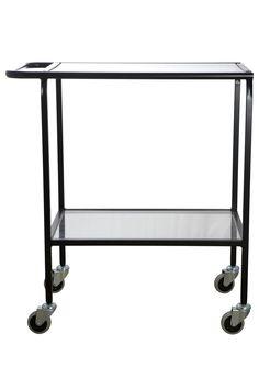 House Doctor trolley LAB - zwart Love: een trolley kan je op veel verschillende manieren stylen, bijvoorbeeld met planten. Of heel praktisch in de keuken, met voorraad voer voor de huisdieren & bovenop een theedoos met mooi theeservies.