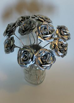 Make metal flowers - this would work for Steampunk as well