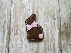 Bunny Felt Appliques Bunny Felt Embroidered by OodlesandWoodles, $3.60