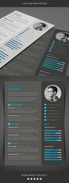 3-Piece Resume by Maxim Bonuz, via Behance