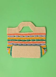 Summertime Crochet Shopper bag in Paintbox Yarns Cotton DK - find this cute FREE pattern on LoveCrochet!