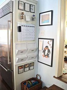 Keep your family organized with these creative command centers.
