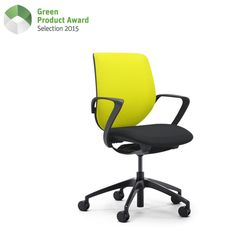"""""""Giroflex 313 (g313) is the first fully fledged office chair that adjusts itself completely automatically to the weight of its respective users. This chair sets standards for the new working environments. The For workplaces shared by several people this is a noticeable gain in comfort and efficiency. The giroflex 313 is available as a swivel chair or as a conference chair. Its high degree of sustainability is confirmed by the Cradle to Cradle certificate."""