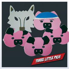 Three Little Pigs Masks for Children's story time. Help children retell the story or act out new versions of the story.