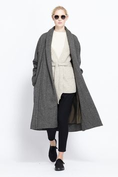 Christophe Lemaire Tweed Kaftan (Grey Marl)  #minimalist #fashion #style