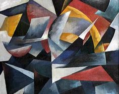 Futuristic composition via Aleksandra Ekster Medium: oil on canvas Abstract Art Images, Francis Picabia, Cubism Art, Georges Braque, Kandinsky, Russian Art, Art Plastique, Geometric Art, Picasso