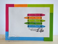 Awesome color in this card by @Teri Anderson!  Showing off the You Rule! set to perfection.