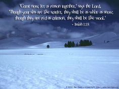 Image from http://oneyearbibleimages.com/isaiah1_18.jpg.