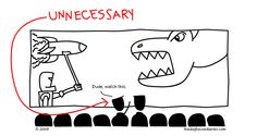 Oh that?  A robot launching a missile into a dinosaur?  You know, I think I will.  Thanks.