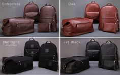 The leather duffle backpack adjusts to your lifestyle and needs, just zip pack and go!