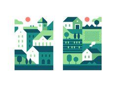 City and Farm by Alex Pasquarella #Design Popular #Dribbble #shots