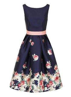 Dorothy Perkins Womens *Chi Chi London Blue Floral Print Skater Chi Chi London floral print skater dress with contrast belt and is fully lined. Wearing length is approximately 88cm. 100% Polyester. Hand wash only. http://www.MightGet.com/april-2017-1/dorothy-perkins-womens-chi-chi-london-blue-floral-print-skater.asp